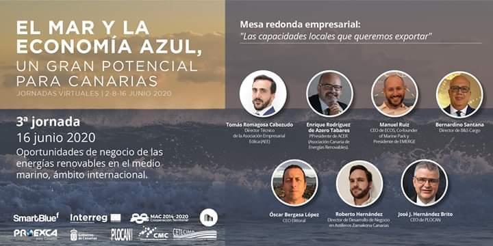 3ª Jornada virtual Día de los Océanos   Foto: CLÚSTER MARINO MARÍTIMO DE CANARIAS