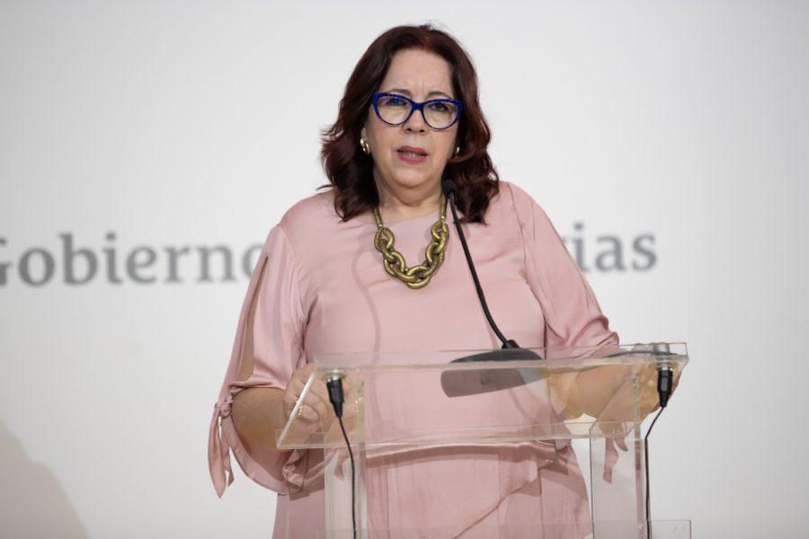 Manuela de Armas en su toma de posesión | Foto: PRESIDENCIA DEL GOBIERNO DE CANARIAS