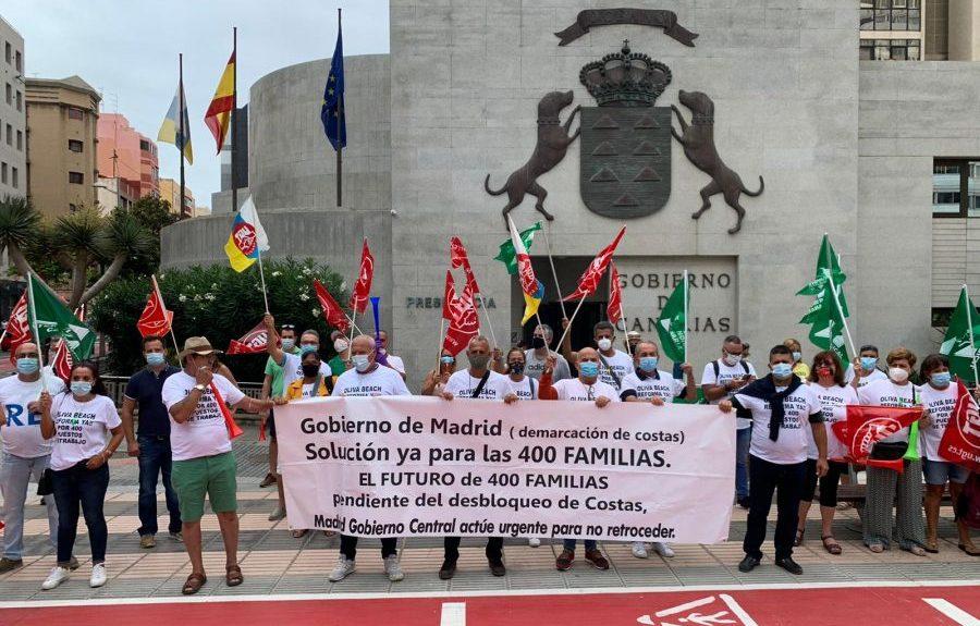 Manifestación frente a la Delegación del Gobierno en LPGC | PLATAFORMA SALVAR EL OLIVA BEACH