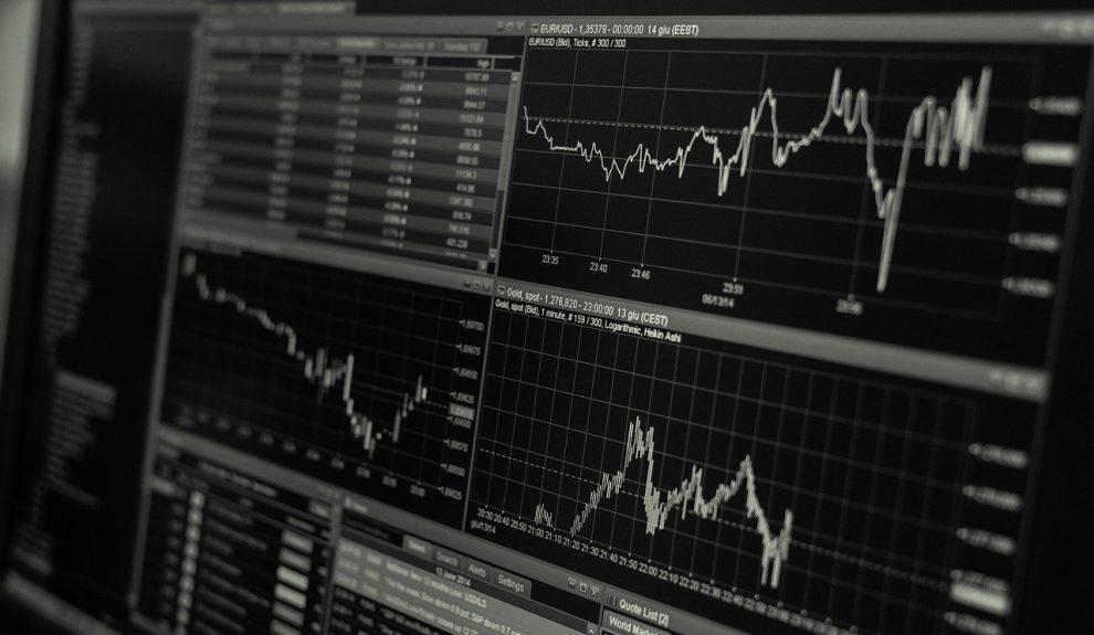 Pantalla con datos financieros