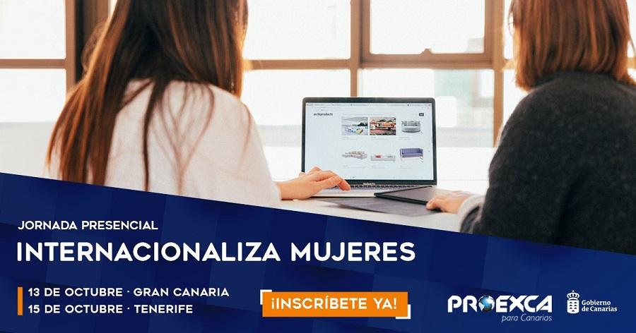 Cartel Programa Internacionaliza Mujeres | Foto: PROEXCA