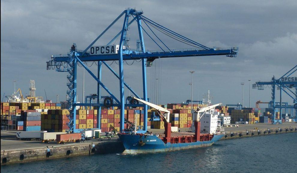 Contenedores en el Puerto de Las Palmas