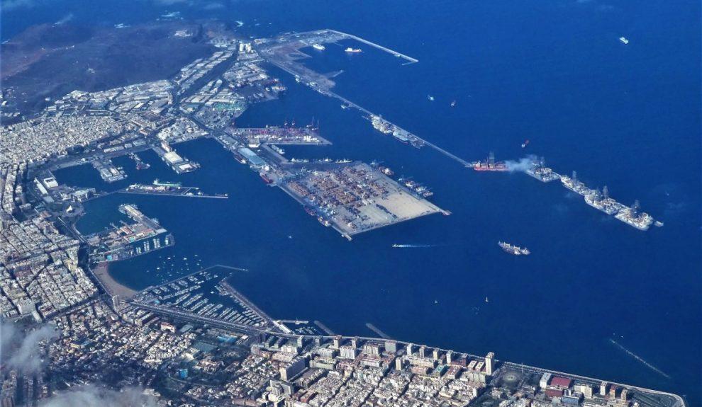 Áerea del Puerto de Las Palmas | Foto: ARCHIVO