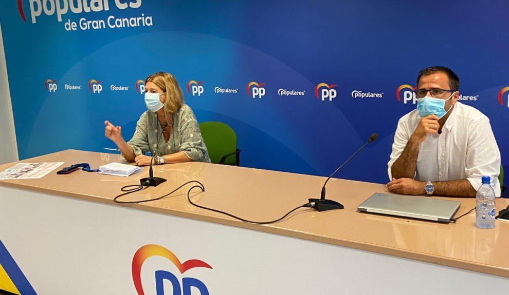 Ángel Sabroso y Pepa Luzardo   Foto: PP