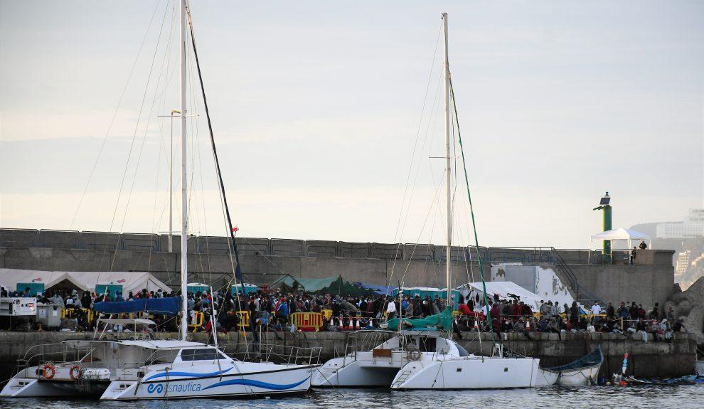 Situación del Muelle de Arguineguín a 12 de noviembre | Foto: AYUNTAMIENTO DE MOGÁN