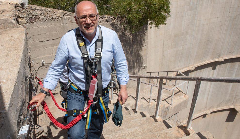 Antonio Morales de visita en la presa de Soria en 2019 | CABILDO DE GRAN CANARIA