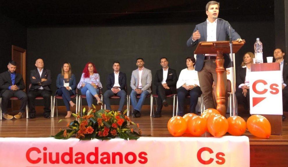 Ruymán Santana en un acto de partido el pasado mayo   CIUDADANOS CANARIAS