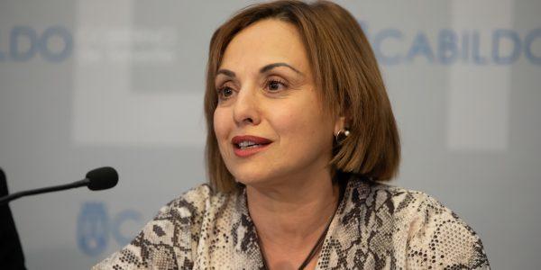 Berta Pérez en rueda de prensa el pasado enero | CABILDO DE TENERIFE