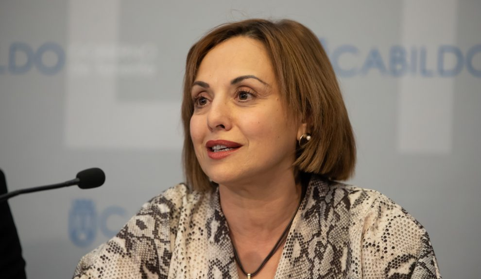 Berta Pérez en rueda de prensa el pasado enero   CABILDO DE TENERIFE