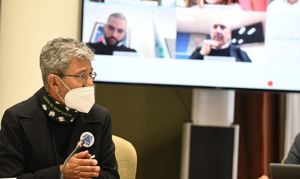 Pedro Hernández durante su intervención en comisión el pasado febrero | PARLAMENTO DE CANARIAS