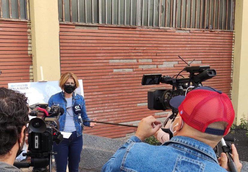Pepa Luzardo en rueda de prensa ayer | PP LAS PALMAS DE GRAN CANARIA