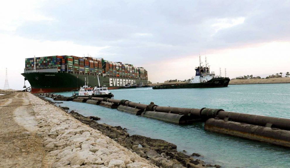 Carguero Evergreen en el Canal de Suez | TVE