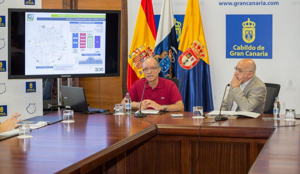 Roque Calero (izq.) junto a Antonio Morales en 2017   CABILDO DE GRAN CANARIA