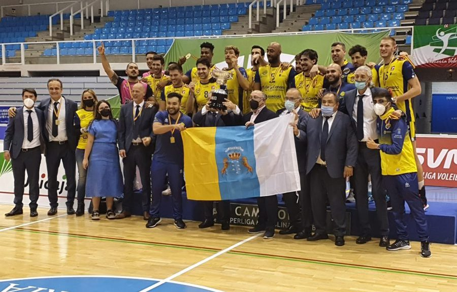 Equipo del CV Guaguas celebrando la victoria el pasado sábado   GOBIERNO DE CANARIAS