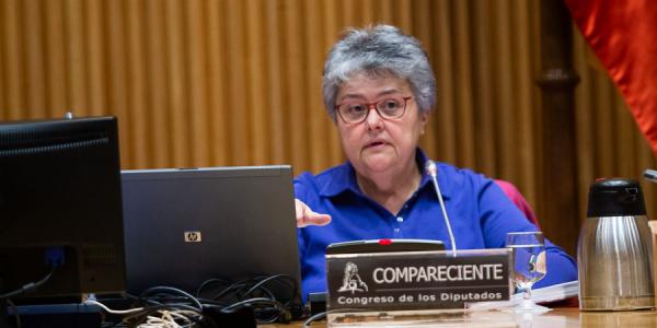 Pilar Vera en la Comisión de Investigación relativa al accidente del vuelo JK 5022 de Spanair el pasado marzo | CONGRESO DE LOS DIPUTADOS