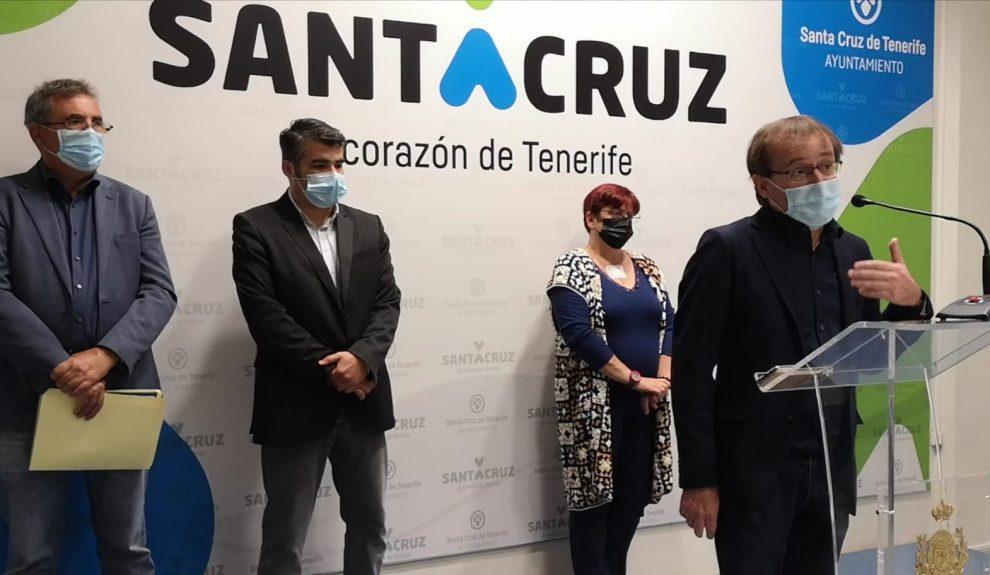 Ramón Trujillo en rueda de prensa sobre este tema el pasado viernes   UNIDAS PODEMOS SANTA CRUZ DE TENERIFE