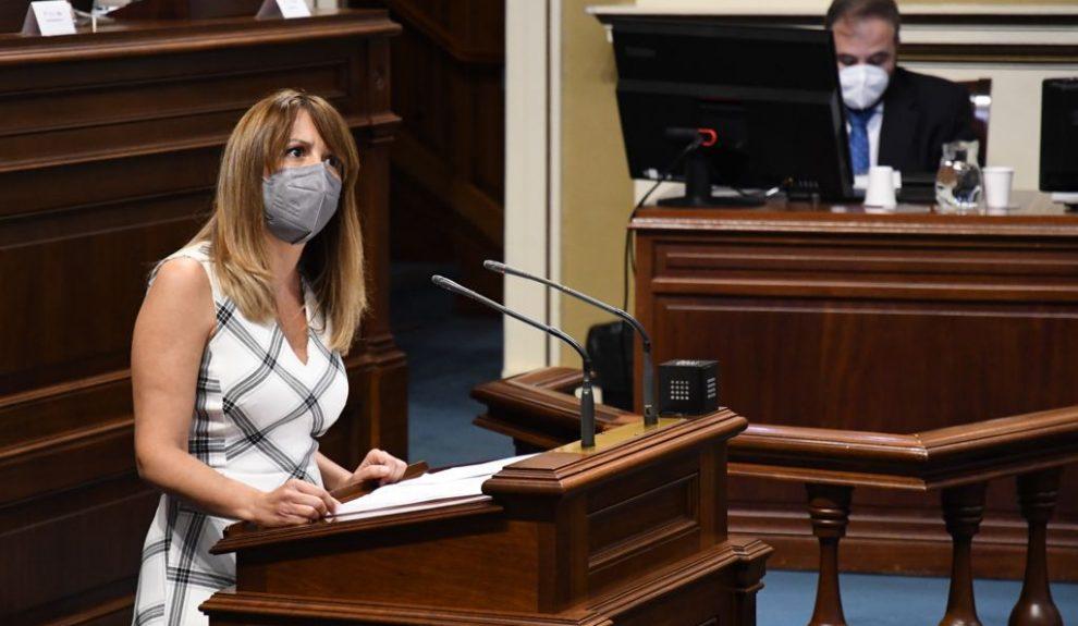 Rosa Dávila en el Parlamento de Canarias el pasado marzo | COALICIÓN CANARIA