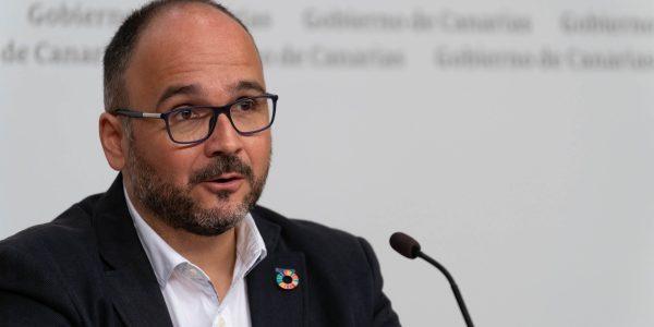 José Antonio Valbuena el pasado febrero | CONSEJERÍA DE TRANSICIÓN ECOLÓGICA DEL GOBIERNO DE CANARIAS