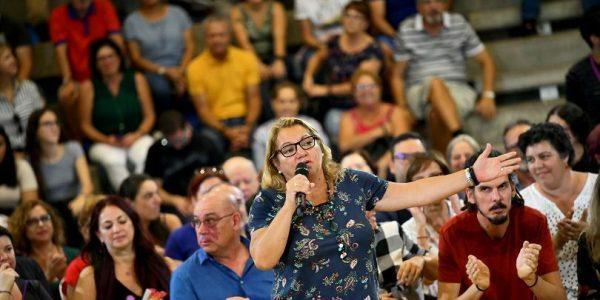 Meri Pita en un mítin en Las Palmas de Gran Canaria en 2019 | PODEMOS