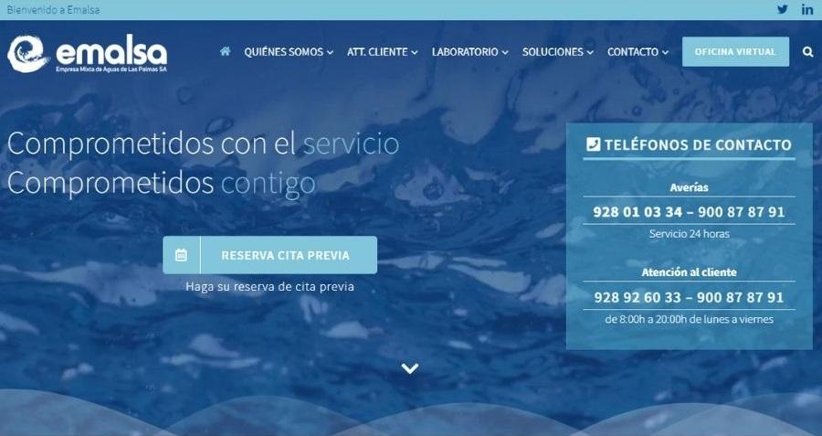 Página de inicio de la web de la empresa   EMALSA