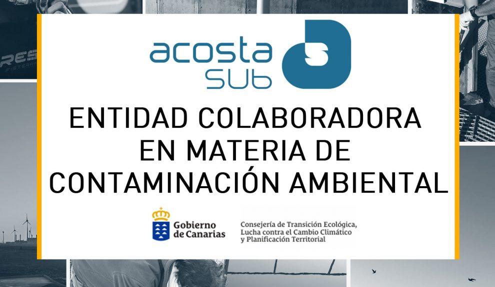 Reconocimiento del Gobierno de Canarias | ACOSTASUB