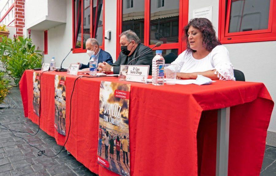 Caya Suárez en la presentación de la memoria el pasado martes | CÁRITAS CANARIAS