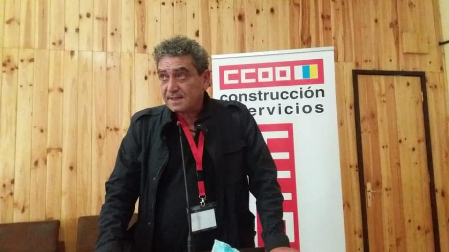 Inocencio González en un acto sindical el pasado mayo | COMISIONES OBRERAS CANARIAS