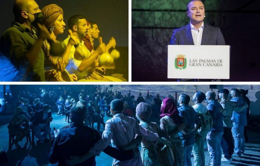 Instantes de una actuación y anuncio de la candidatura por parte del alcalde   SOCIEDAD DE PROMOCIÓN DE LAS PALMAS DE GRAN CANARIA