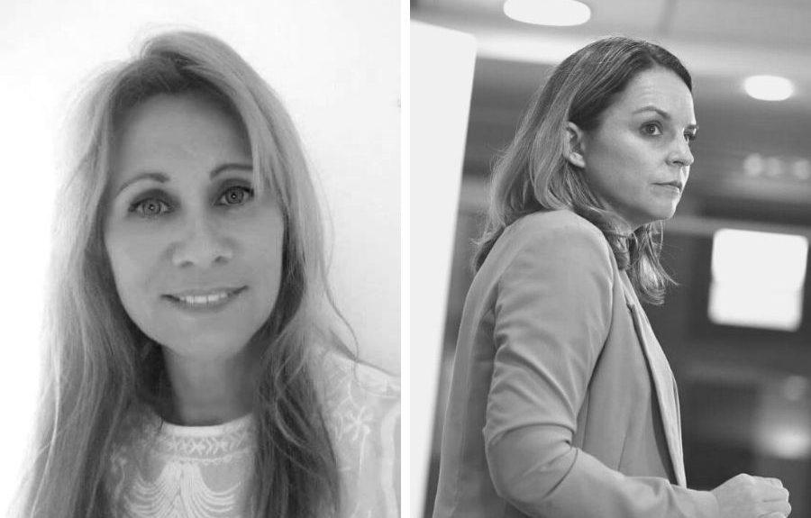 Mª Ángeles Barroso (izq.) y Noemí Santana   EL ESPEJO CANARIO
