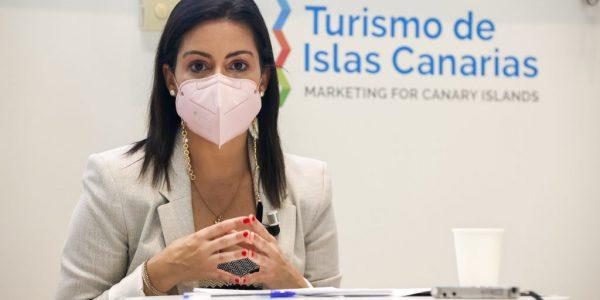 Yaiza Castilla en la presentación del bono turístico el pasado día 9   CONSEJERÍA DE TURISMO DEL GOBIERNO DE CANARIAS