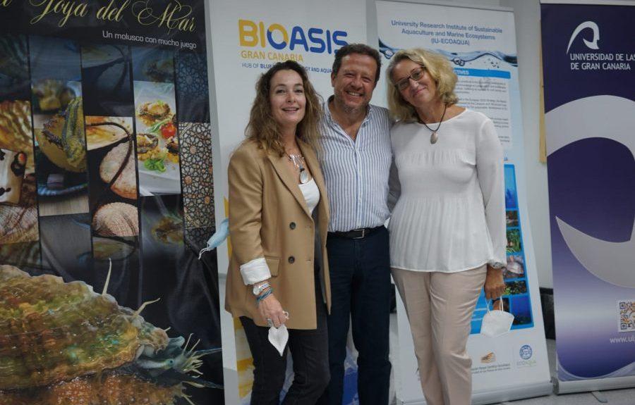 Gercende Courtois de Viçose, Rafael Ginés y Mª del Pino Toledo en la cata Abalon   MANDARINA COMUNICACIÓN