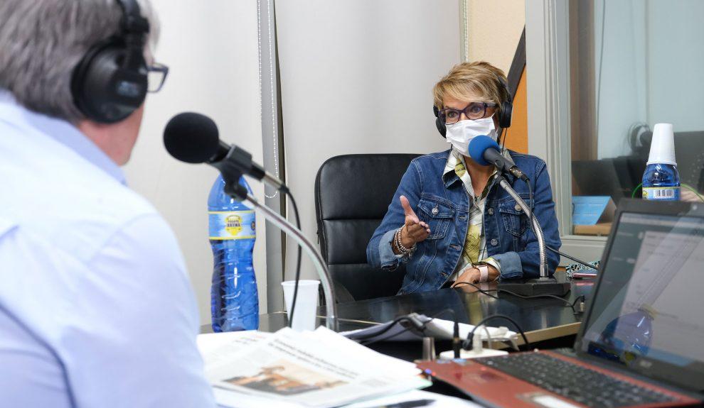 Elena Máñez hoy en el estudio | CONSEJERÍA DE ECONOMÍA DEL GOBIERNO DE CANARIAS