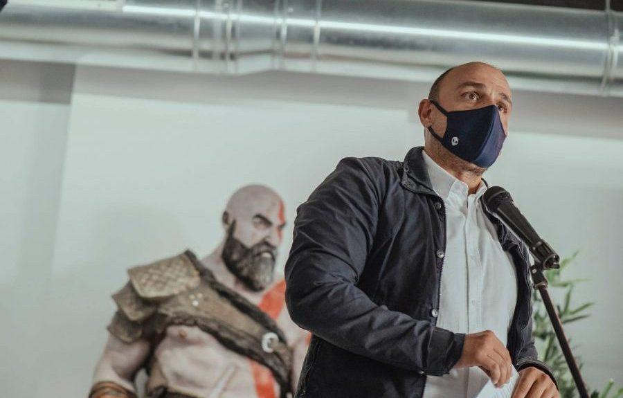 Alfonso Cabello en la presentación de Canarias Game Show ayer   SOCIEDAD DE DESARROLLO DE SANTA CRUZ DE TENERIFE