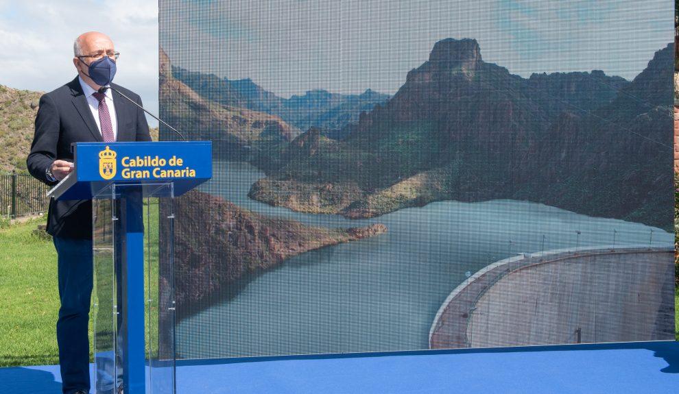 Antonio Morales en la presentación del Salto de Chira el pasado mayo   CABILDO DE GRAN CANARIA