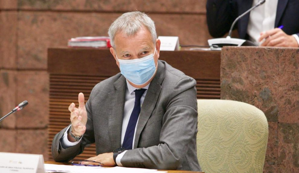 Chano Franquis en comisión del Parlamento de Canarias el pasado lunes | GOBIERNO DE CANARIAS