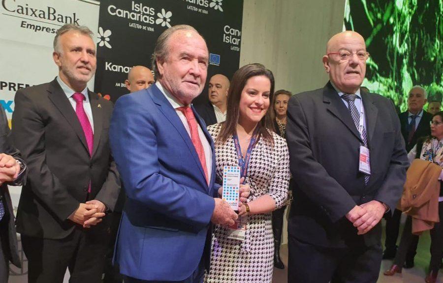 Juan Miguel Sanjuán y Yaiza Castilla en Fitur 2020   SATOCAN