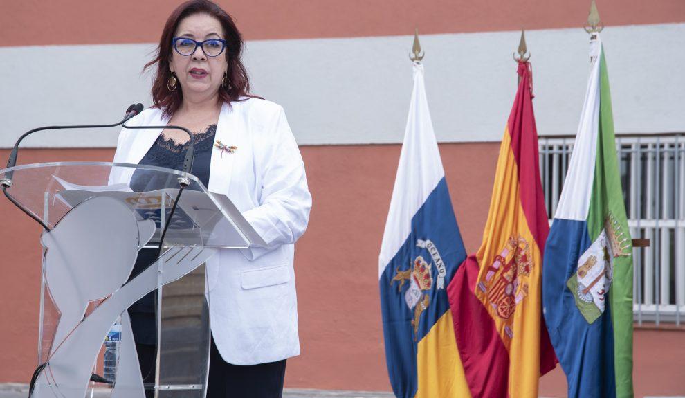 Manuela Armas, el pasado 10 de septiembre en la inauguración del curso escolar | CONSEJERÍA DE EDUCACIÓN DEL GOBIERNO DE CANARIAS