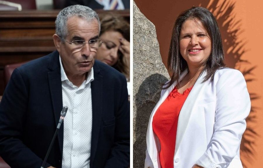 Mario Cabrera y Esther Hernández, alcaldesa de Tuineje   EL ESPEJO CANARIO