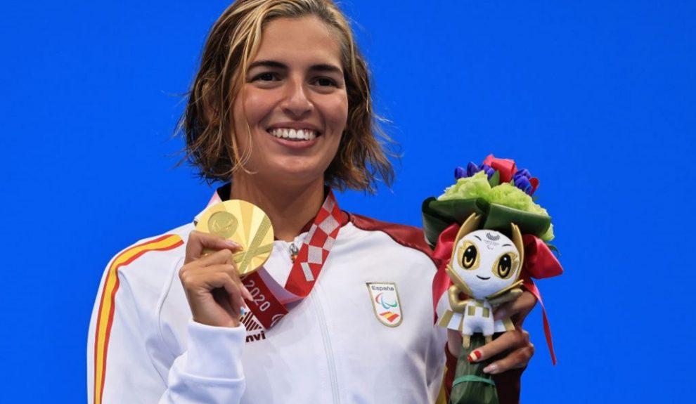 Michelle Alonso recibiendo su medalla en los últimos Juegos Paralímpicos | ARCHIVO