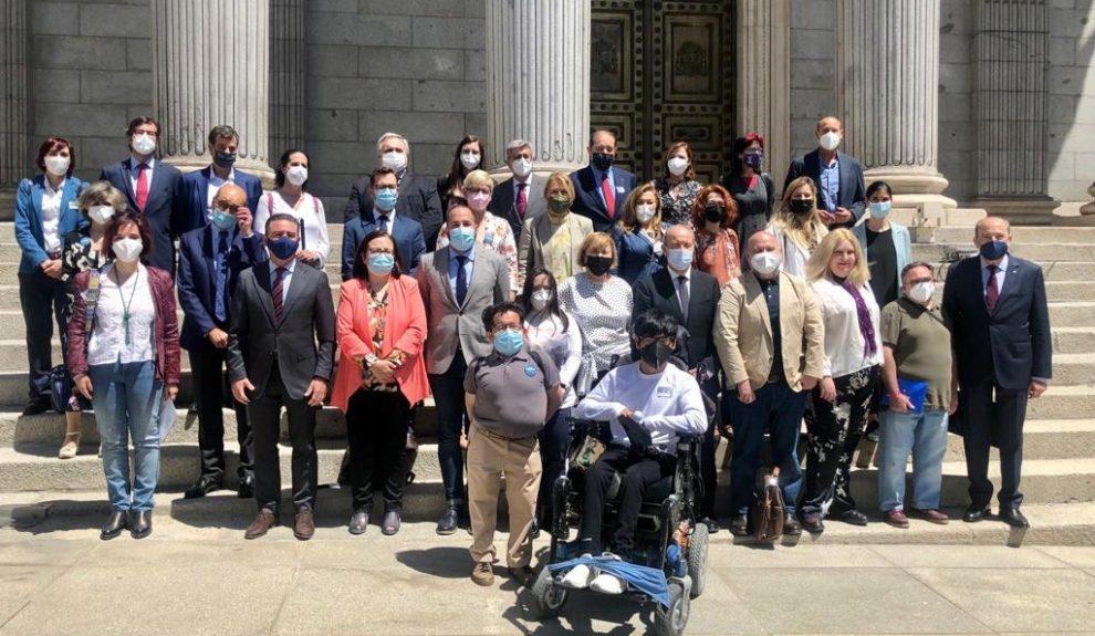 Los colectivos de personas con discapacidad en el Congreso de los Diputados el día que se aprobó la reforma de la legislación civil y procesal para el apoyo a las personas con discapacidad en el ejercicio de su capacidad jurídica el pasado mayo | MONCLOA