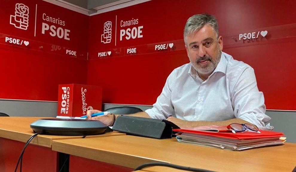 Jorge González, secretario de organización del PSOE de Canarias | Foto: PSOE de Canarias