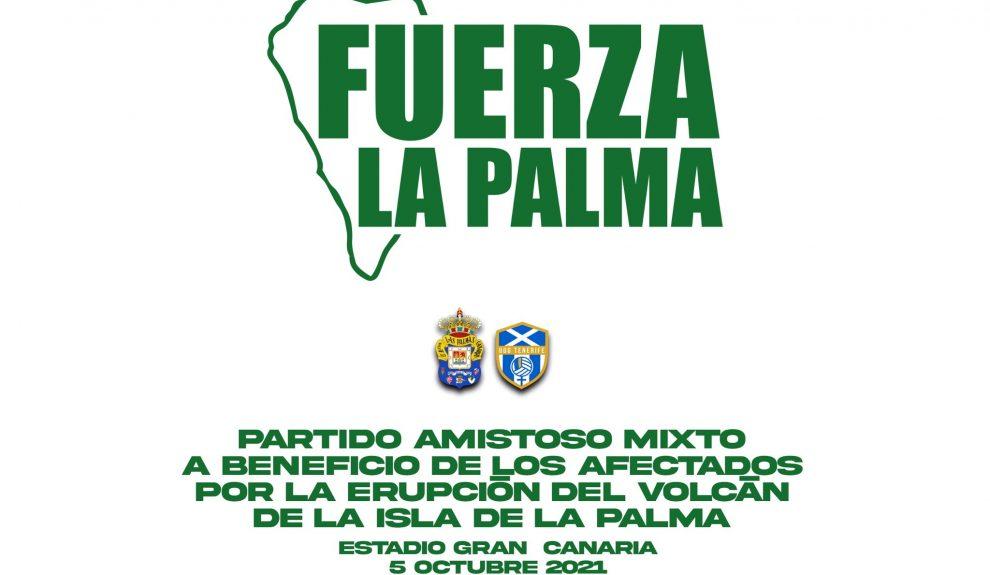 Cartel anunciador del homenaje a La Palma